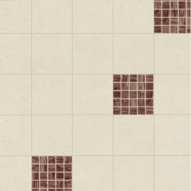 P&S International P+S Home Sweet Home Square Tile Effect Kitchen Bathroom Wallpaper 45033-10