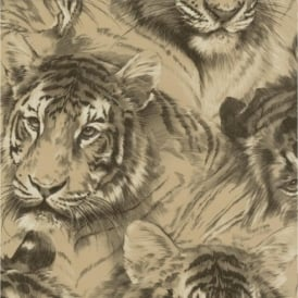 P+S Home Sweet Home Tiger Head Animal Wildlife Big Cat Wallpaper 45036-10