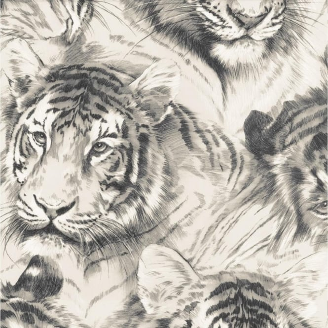 P&S International P+S Home Sweet Home Tiger Head Animal Wildlife Big Cat Wallpaper 45036-30