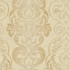 P+S International Antique Luxury Damask Baroque Textured Wallpaper 02301-30