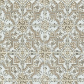 P&S International Baroque Tile Pattern Wallpaper Faux Effect Textured Motif 13477-10