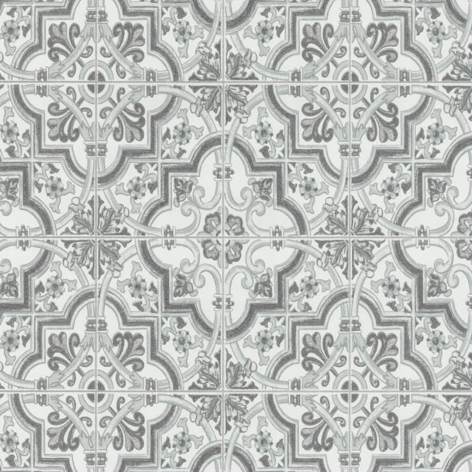 P&S International Baroque Tile Pattern Wallpaper Faux Effect Textured Motif 13477-20