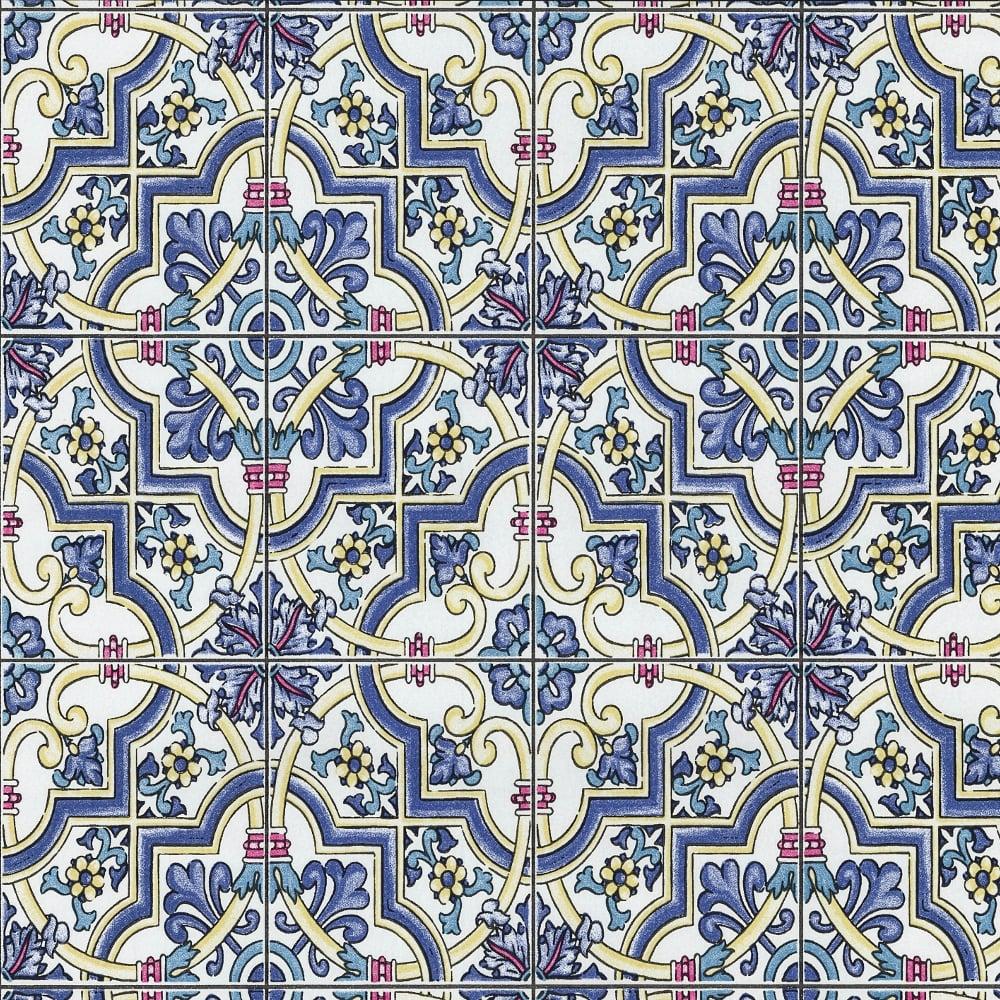 p s international baroque tile pattern wallpaper faux. Black Bedroom Furniture Sets. Home Design Ideas