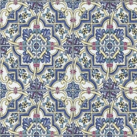 P&S International Baroque Tile Pattern Wallpaper Faux Effect Textured Motif 13477-30
