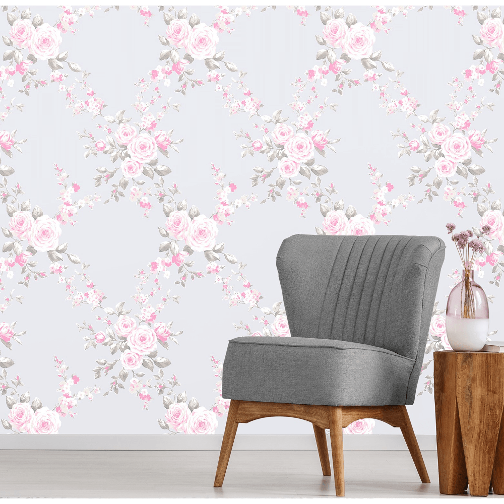 Ps International Canterbury Floral Flower Pattern Wallpaper 05653 20