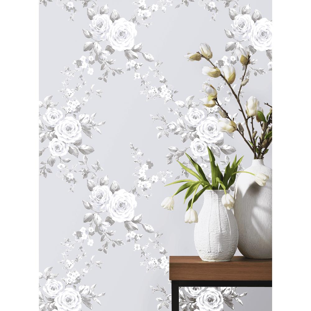 Ps international canterbury floral flower pattern wallpaper 05653 30 catherine lansfield canterbury floral trail diamond flower pattern paper wallpaper mightylinksfo
