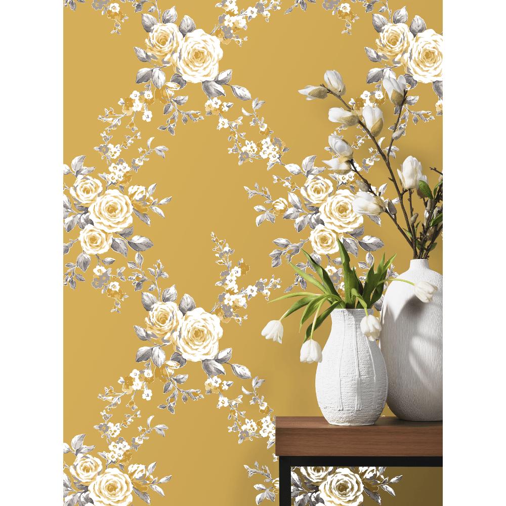 Ps international canterbury floral flower pattern wallpaper 05653 50 catherine lansfield canterbury floral trail diamond flower pattern paper wallpaper mightylinksfo