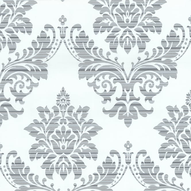 P&S International Catherine Lansfield Damask Pattern Wallpaper Metallic Motif 13373-24