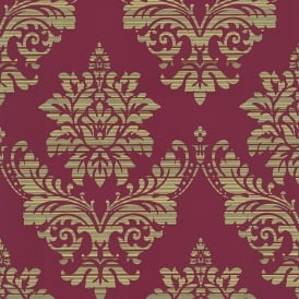 P&S International Catherine Lansfield Damask Pattern Wallpaper Metallic Motif 13373-44