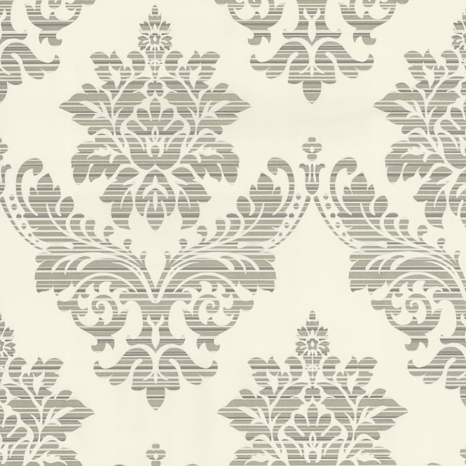 P&S International Catherine Lansfield Damask Pattern Wallpaper Metallic Motif 13373-54