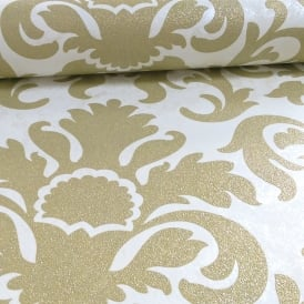 P&S International Damask Pattern Metallic Marble Glitter Motif Wallpaper 13343-70