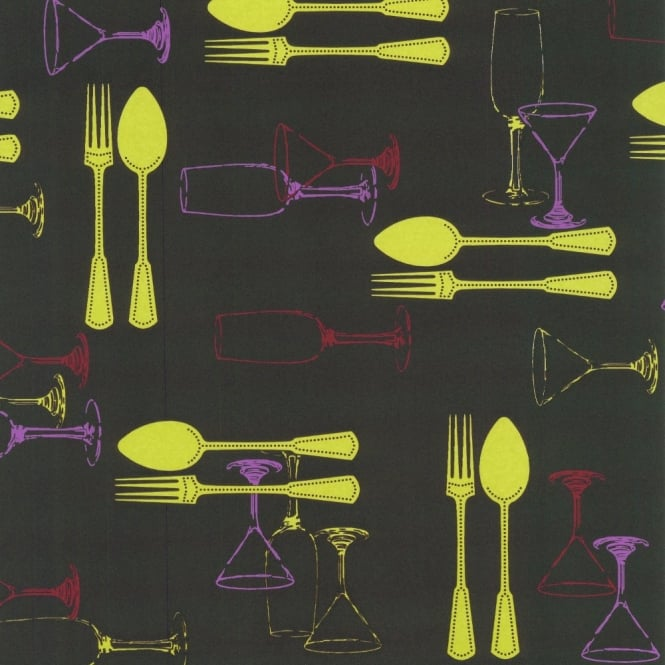 P&S International P+S International Home Sweet Home Cutlery Wine Luxury Washable Kitchen Wallpaper 03836-30