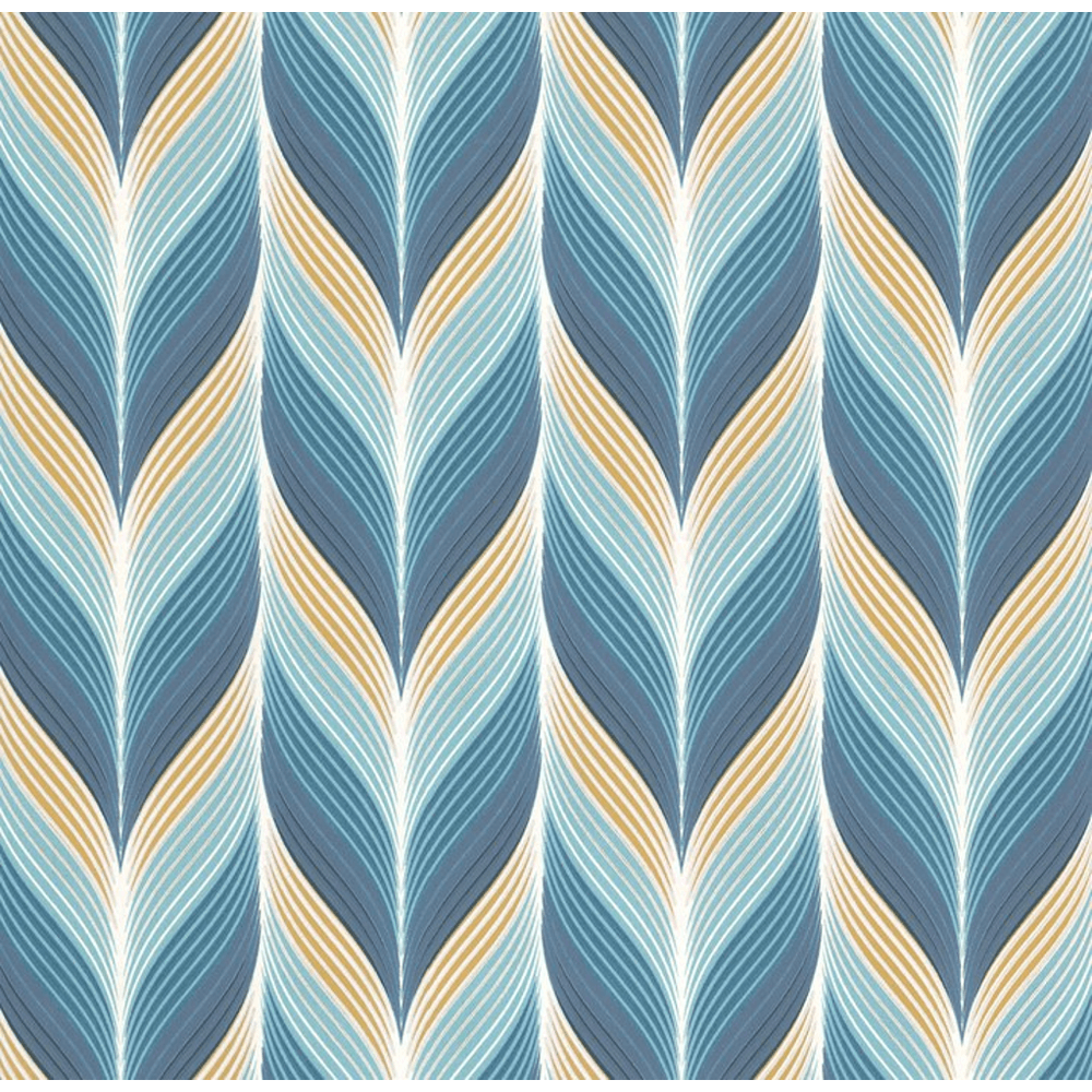 Modern Non Woven Geometric Embossed Feather Motif Pattern Pastel Colour Wallpaper 13591 30