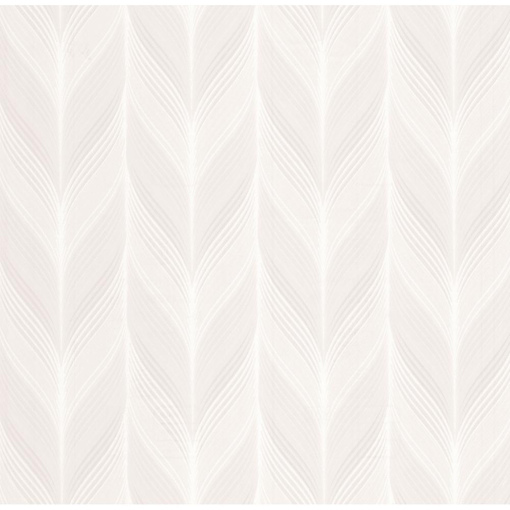 PampS International Modern Non Woven Geometric Embossed Feather Motif Pattern Pastel Colour Wallpaper