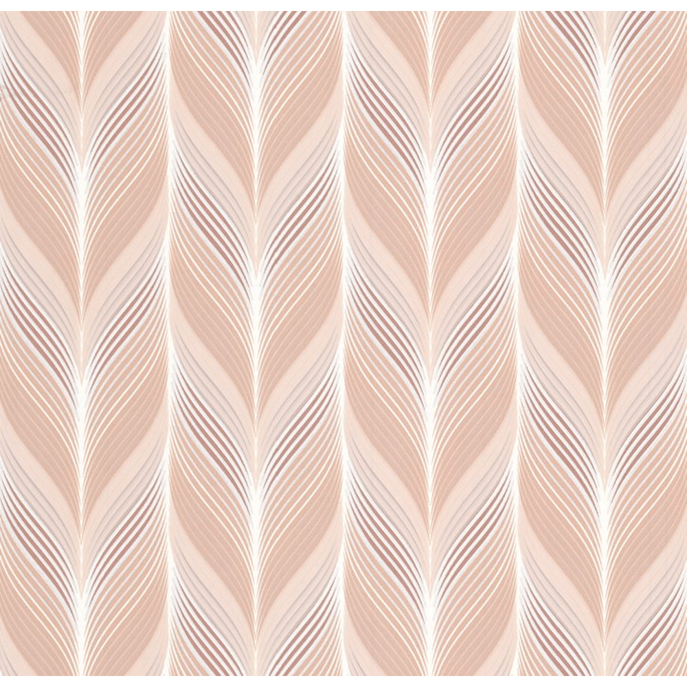 PampS International Modern Non Woven Geometric Embossed Feather Motif Pattern Pastel Colour Wallpaper