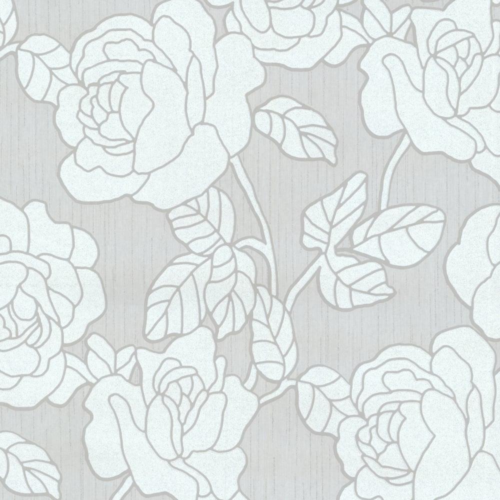 p s international opal floral pattern wallpaper flower leaf metallic