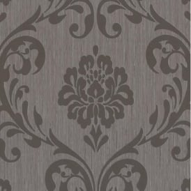 P+S International Ornament Damask Embossed Textured Wallpaper 13110-40