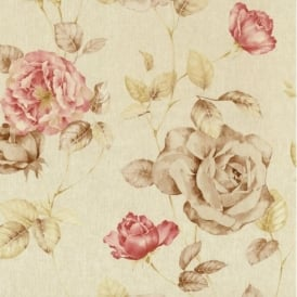 P+S Antique Floral Vintage Look Textured Flower Trail Wallpaper Roll 02297-30