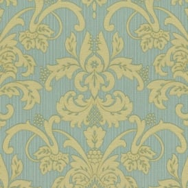 P&S Damask Pattern Floral Motif Glitter Embossed Textured Vinyl Wallpaper 18132-40
