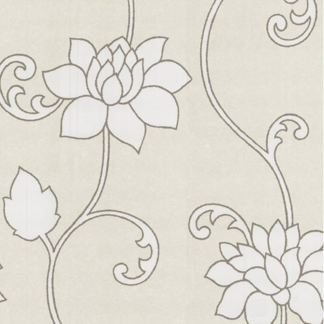 P&S International P+S Decor Deluxe Orpheo Floral Trail Metallic Textured Wallpaper 13092-10