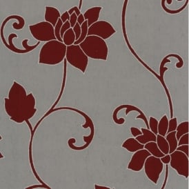 P+S Decor Deluxe Orpheo Floral Trail Metallic Textured Wallpaper 13092-40