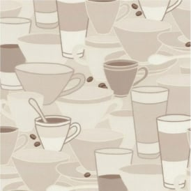 P+S Home Sweet Home Coffee Cups Saucers Tea Cafe Kitchen Wallpaper 45028-10