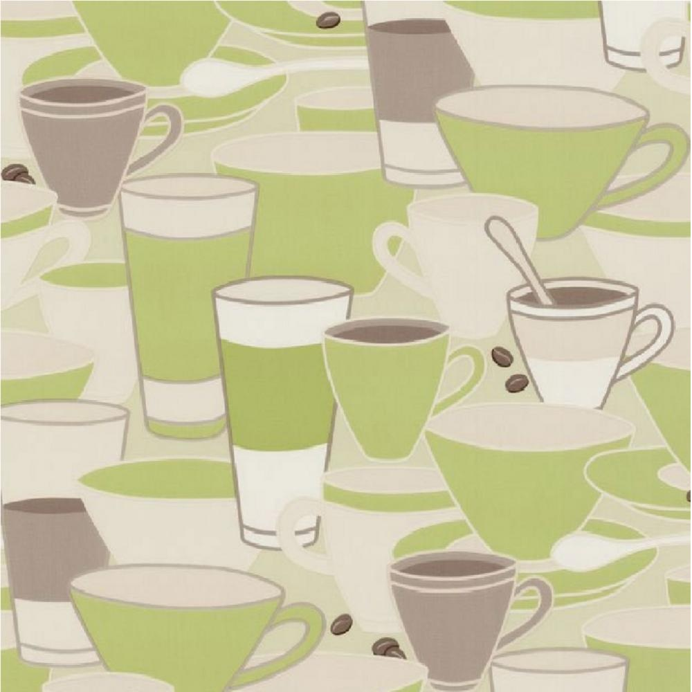 Kitchen Wallpaper Coffee: P+S Home Sweet Home Coffee Cups Tea Cafe Kitchen Wallpaper