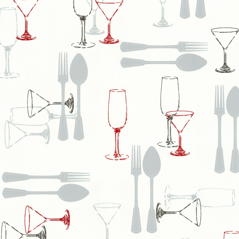 P s international home cutlery washable kitchen wallpaper for Washable wallpaper