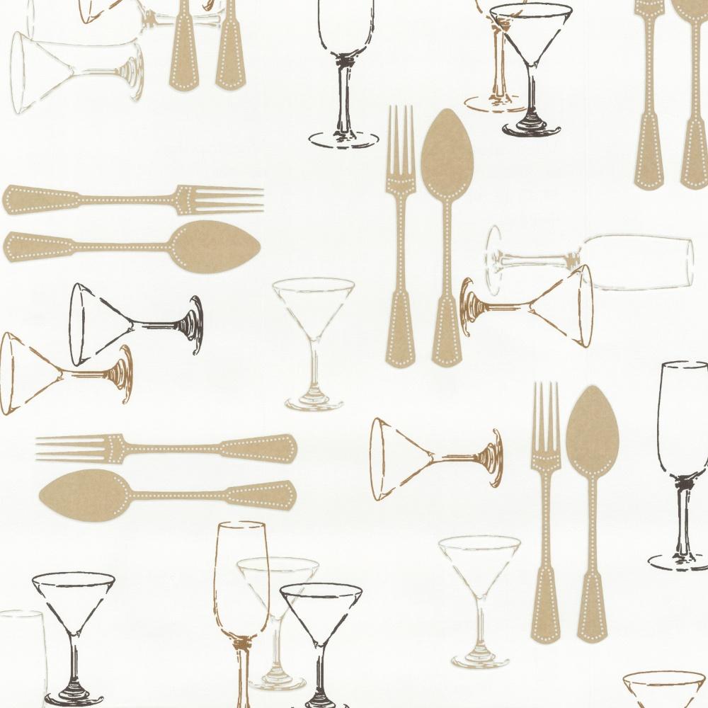 P s international home cutlery washable kitchen wallpaper - Carta parati cucina lavabile ...