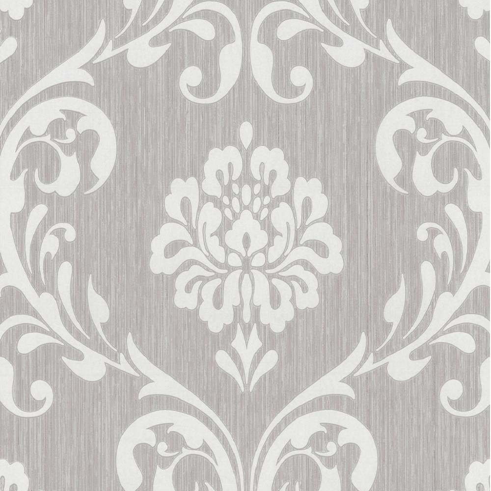P s international ornament damask embossed textured wallpaper 13110 20 - Tapete schlafzimmer beige ...