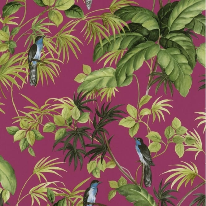 P&S International P+S International Tropical Exotic Birds Trees Leaves Wallpaper 05550-30