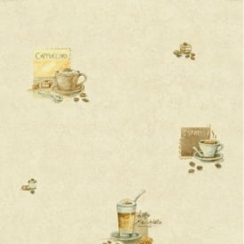 P+S Latte Cappuccino Espresso Coffee Kitchen Wallpaper 45001-10
