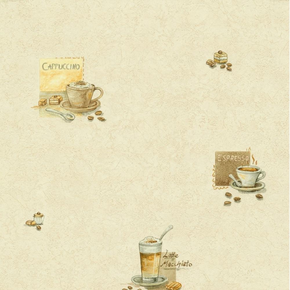 Kitchen Wallpaper Coffee: P&S Latte Cappuccino Espresso Coffee Kitchen Wallpaper