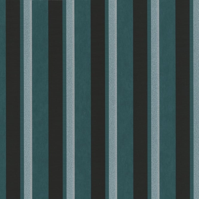 P&S International P&S Magic Circles Striped Pattern Designer Metallic Textured Wallpaper 02421-60