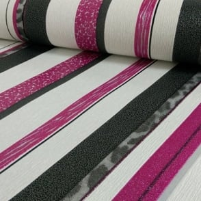 P&S Striped Pattern Glitter Motif Textured Designer Wallpaper 13471-10
