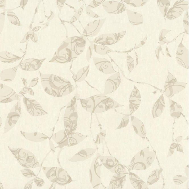 P&S International P+S Tresor Patterned Leaf Trail Embossed Textured Wallpaper 02290-30