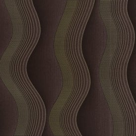 P&S Wave Stripe Pattern Metallic Dot Textured Designer Wallpaper 02427-20