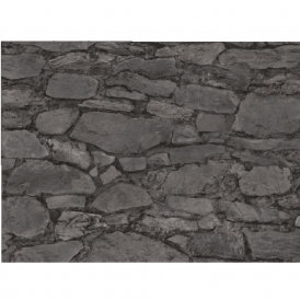 Realistic Country Stone Non Woven Faux Effect Wallpaper