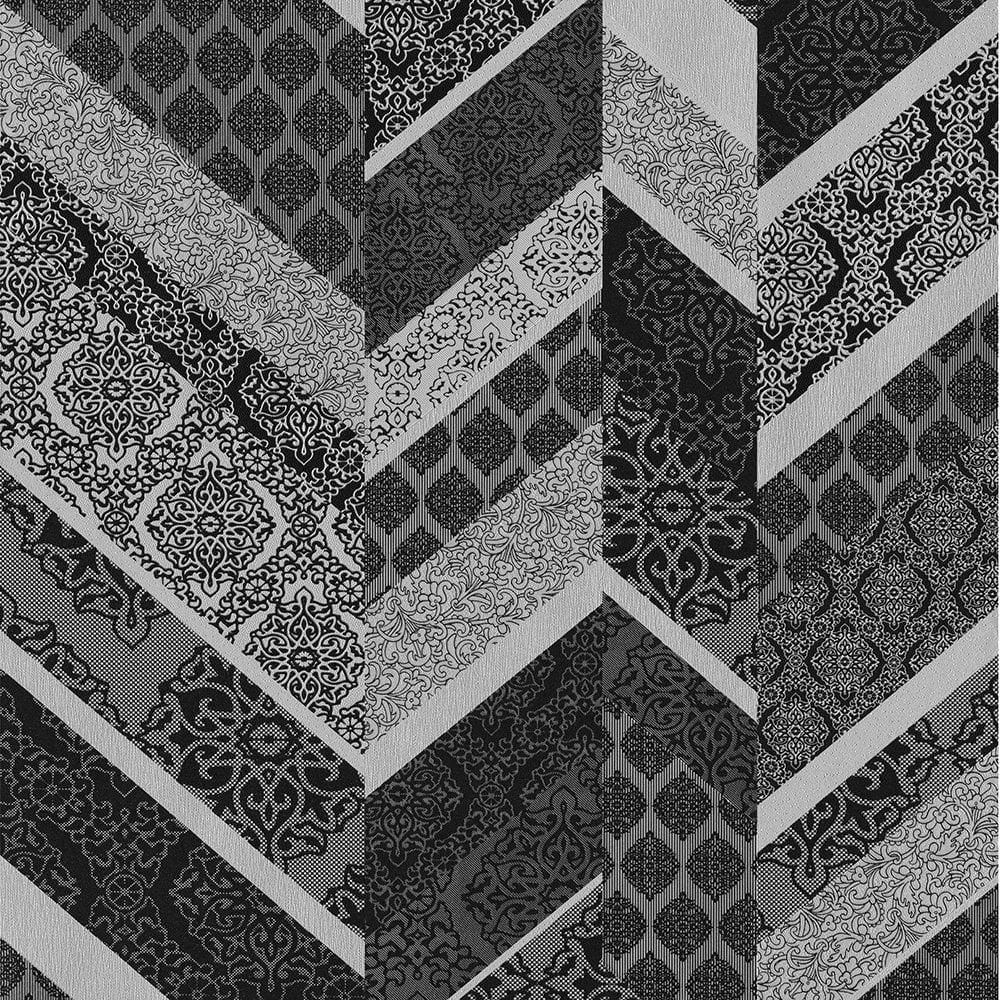 Wallpaper Rolls & Sheets P&S International Stripe Ornament Metallic Geometric Detail Wallpaper 02534-30 DIY Materials