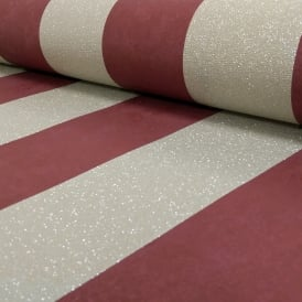 P&S International Stripe Pattern Glitter Motif Metallic Textured Wallpaper 13346-80
