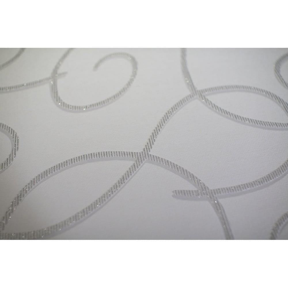 Swirl Twist Non Woven Ribbon Wallpaper Glitter Embossed Pattern 13588-30
