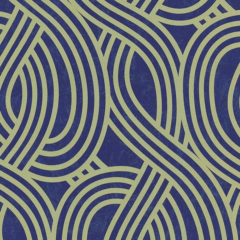 PS Wave Stripe Textured Glitter Metallic Embossed Wallpaper 1334550
