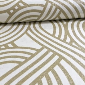 P&S International Wave Stripe Textured Glitter Motif Metallic Embossed Wallpaper 13345-60