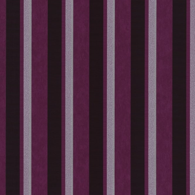 P&S International P&S Magic Circles Striped Pattern Designer Metallic Textured Wallpaper 02421-50