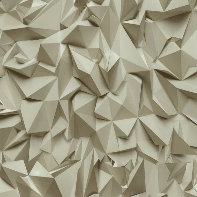 P&S International P&S Times 3D Effect Triangle Pattern Geometric Non Woven Textured Wallpaper 42097-30