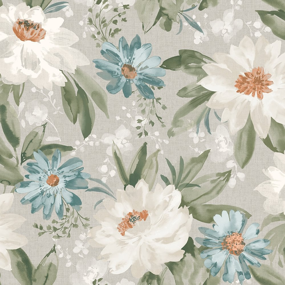 Arthouse Painted Dahlia Flower Pattern English Garden Traditional