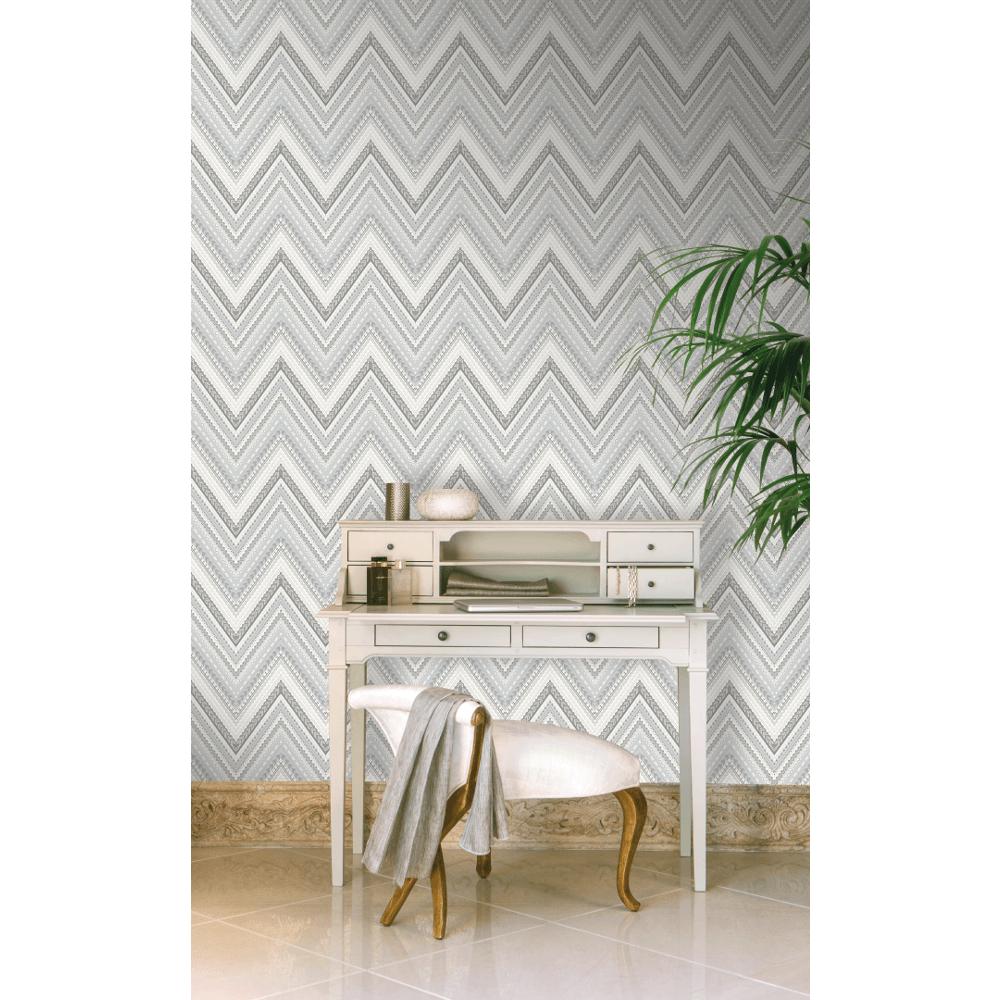 Pandora Pastel Stripe Zigzag Modern Geo Wave Textured Wallpaper A32503