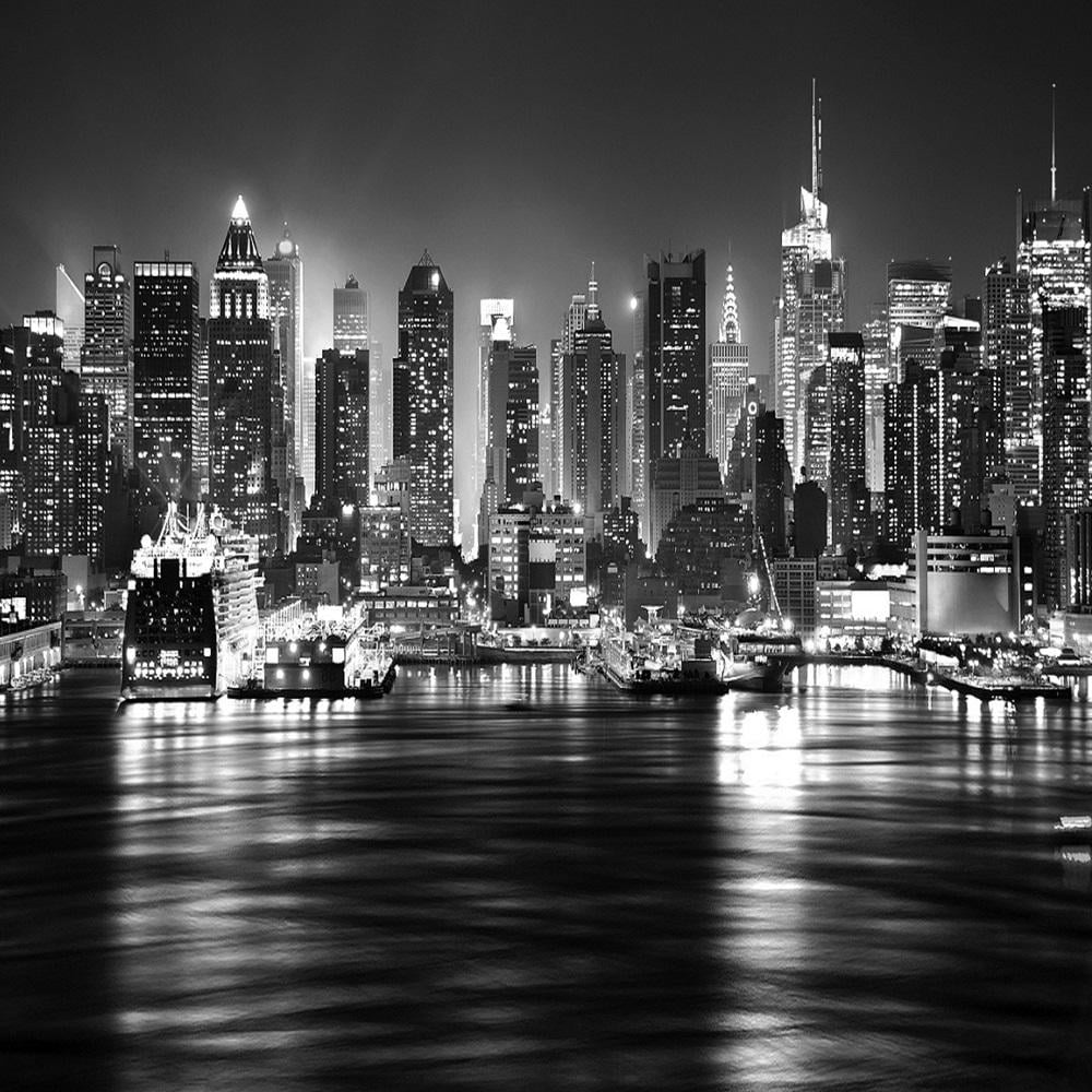 Rainbow New York At Night Black & White Photo Mural Wall Decor R220 ...
