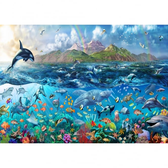Rainbow Tropical Underwater Ocean Sea Life Wallpaper Mural Giant Wall Decor