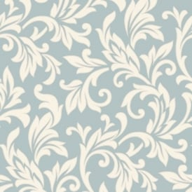 Rasch Allure Damask Pattern Pearl Ivory Motif Glitter Embossed Wallpaper Duck Egg 309829
